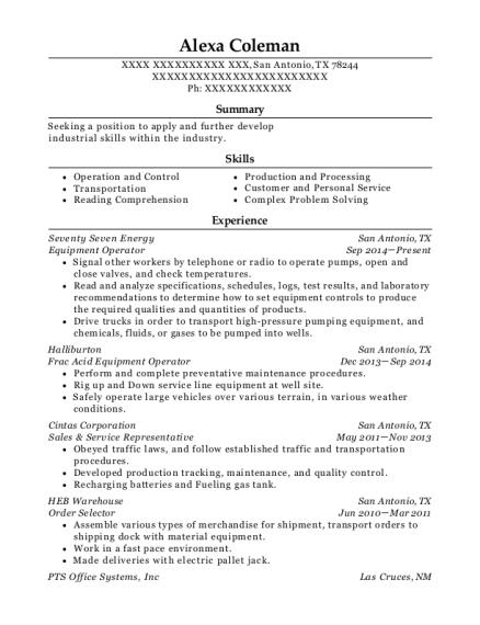 Best Frac Acid Equipment Operator Resumes | ResumeHelp