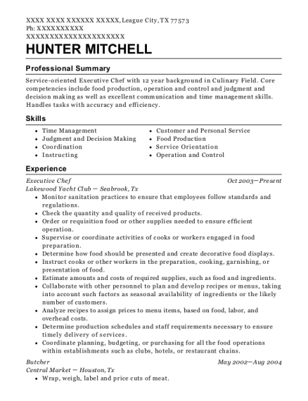Best Butcher Resumes Resumehelp
