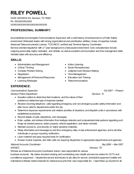 riley powell - Switchboard Operator Resume