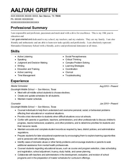 ge aviation master scheduler resume sample