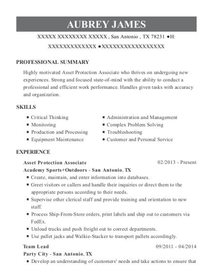 best asset protection associate resumes resumehelp