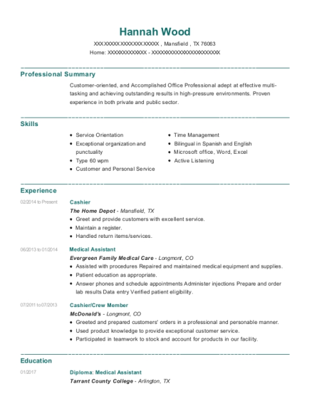 chipotle mexican grill cashier crew member resume sample tucson