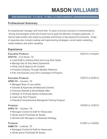 View Resume Executive Producer