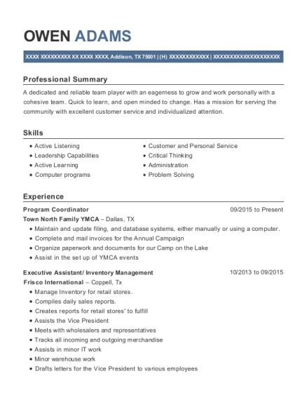 college recruiter resume