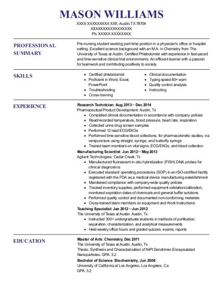 Best Research Technician Resumes | ResumeHelp
