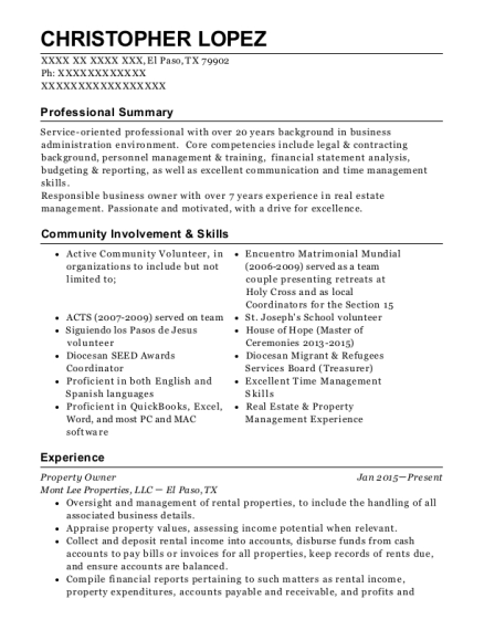 Good Christopher Lopez  Contract Specialist Resume