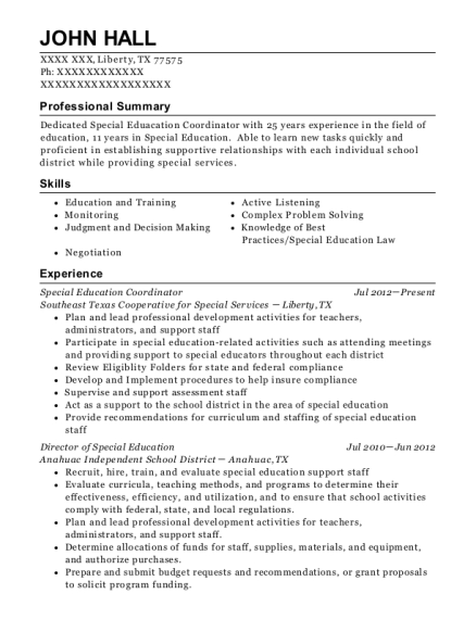 best director of special education resumes resumehelp