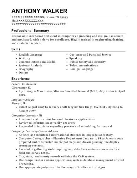 best farsi dari cryptologic linguist resumes resumehelp