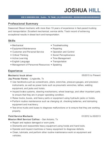 Millwright , Field Service Mechanic. Customize Resume · View Resume