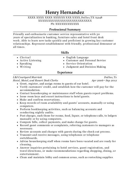 henry hernandez - Account Representative Resume