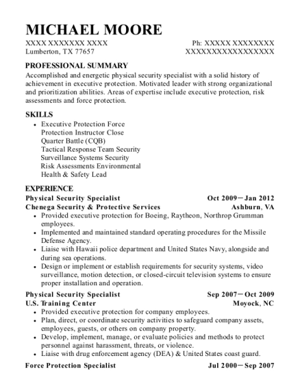 best physical security specialist resumes resumehelp