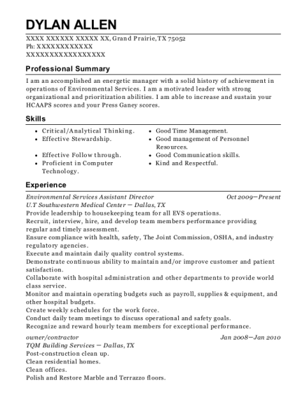 Elegant Environmental Services Supervisor , Facility Control Operator. Customize  Resume · View Resume