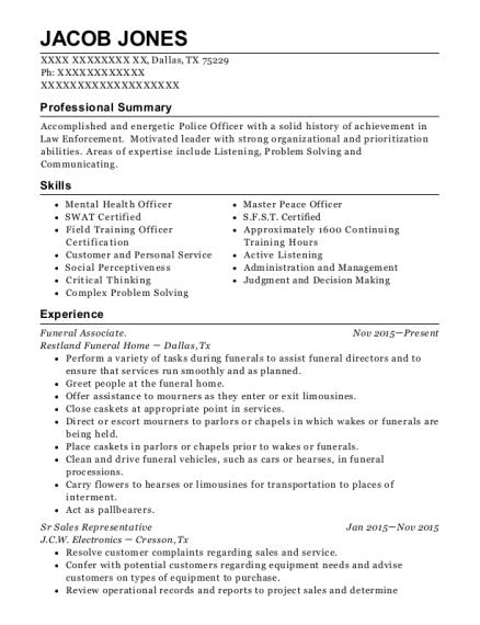 Best Funeral Associate Resumes | ResumeHelp