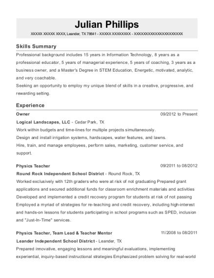view resume - Good Science Teacher Resume