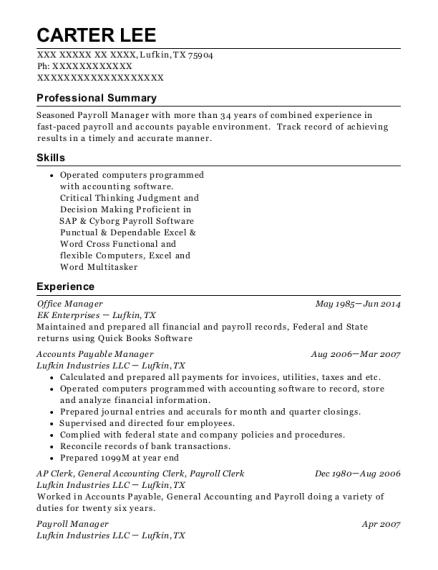 Key Energy Services Ap Clerk Resume Sample - Pearland Texas   ResumeHelp