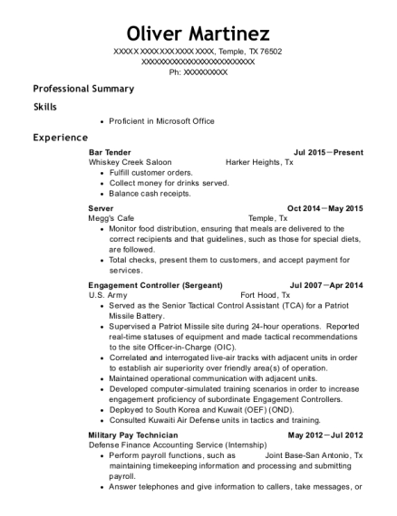 military resume help