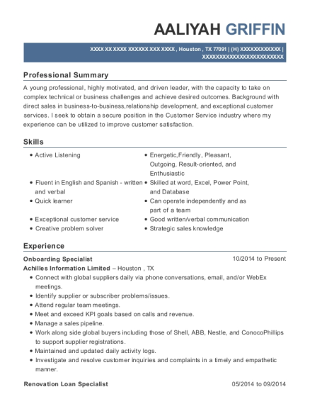 Client Technology Specialist , Onboarding Specialist. Customize Resume ·  View Resume