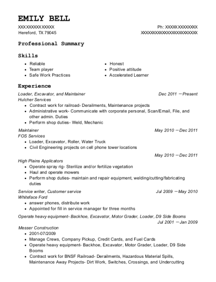 best motor grader resumes resumehelp