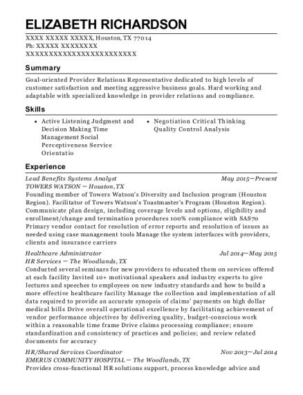 best benefit enrollment specialist resumes resumehelp