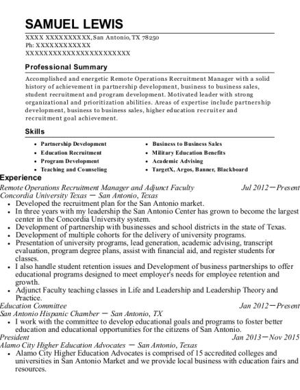 Best High School Admission Recruiter Resumes | ResumeHelp