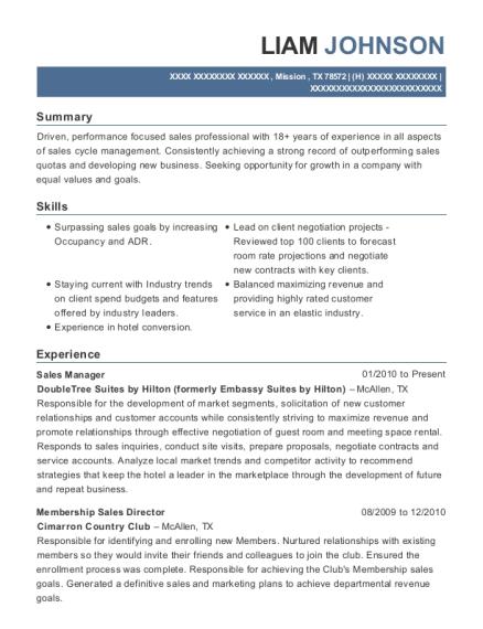 Best Sales & Catering Manager Resumes | ResumeHelp