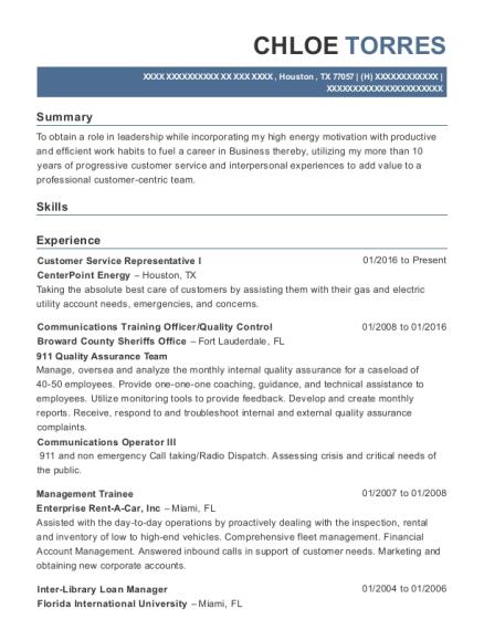 Cecom Communications Training Officer Resume Sample - Kansas ...