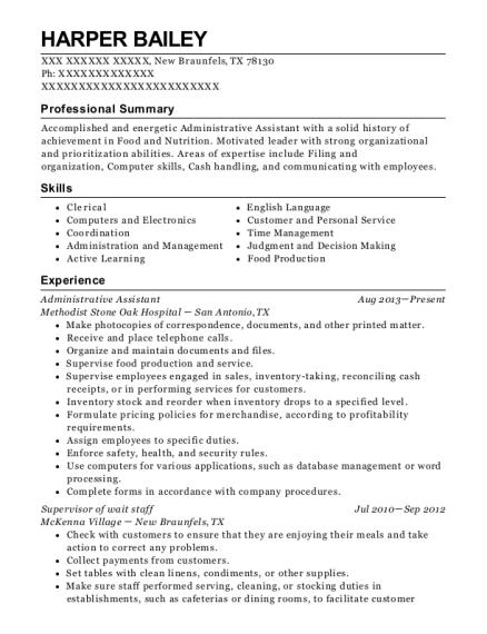 best supervisor of wait staff resumes resumehelp