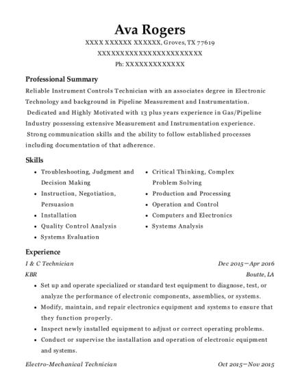 best robot technician resumes resumehelp