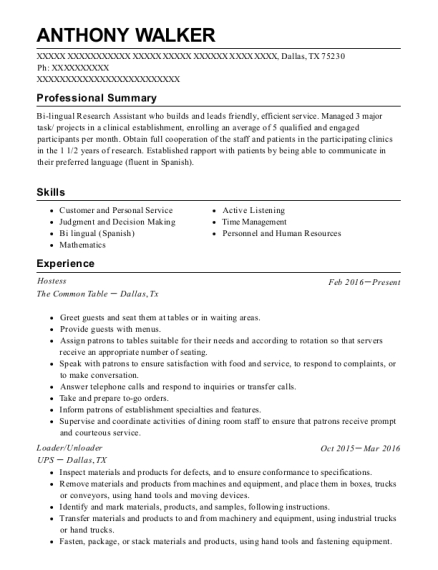anthony walker - Resume Social Science Research