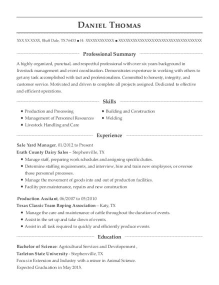Best Sale Yard Manager Resumes | ResumeHelp
