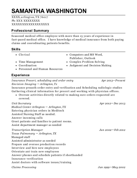 Best Transcription Manager Resumes | ResumeHelp