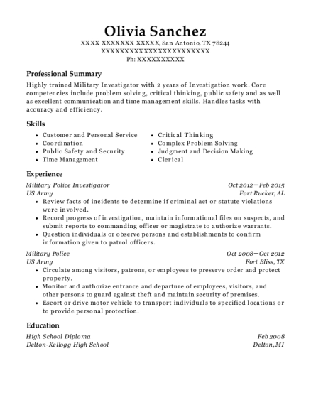 criminal investigator resume professional detective and criminal