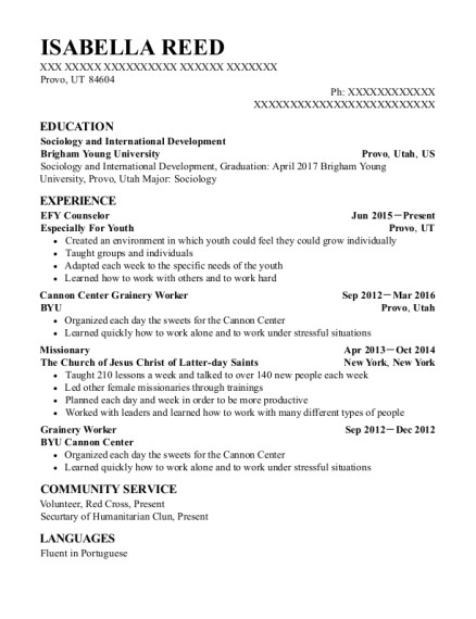 counselor resumes