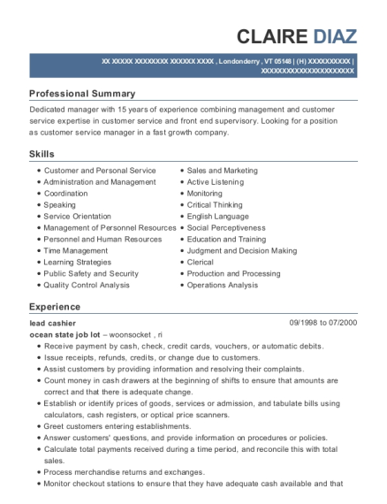 Woolworths Supermarkets Produce Manager Resume Sample