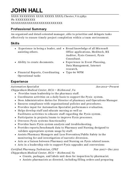 best cpht resumes resumehelp