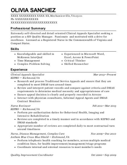 best quality improvement coordinator resumes resumehelp