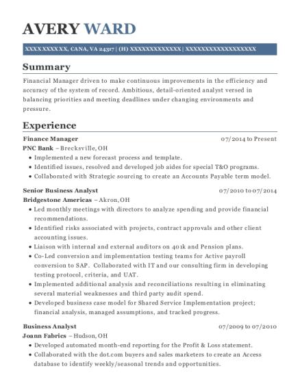 Best Manager Financial Planning & Analysis Resumes | ResumeHelp