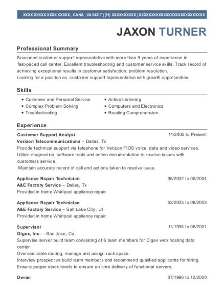 best appliance repair technician resumes resumehelp - Appliance Repair Sample Resume