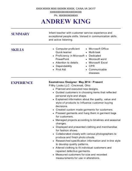 andrew king - Inventory Specialist Resume