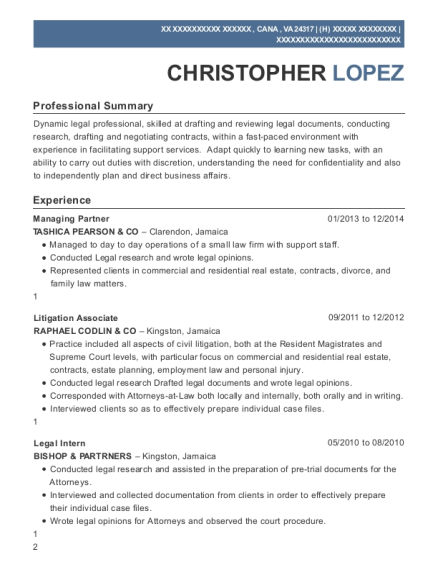 Best Litigation Associate Resumes Resumehelp