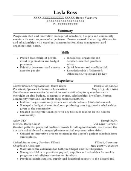 Best Chaplains Assistant Resumes | ResumeHelp