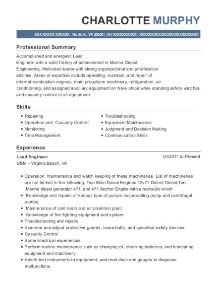 Best Lead Engineer Resumes | ResumeHelp