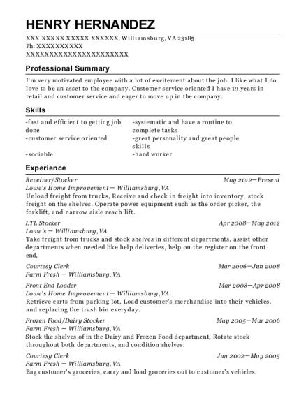 best ltl stocker resumes resumehelp