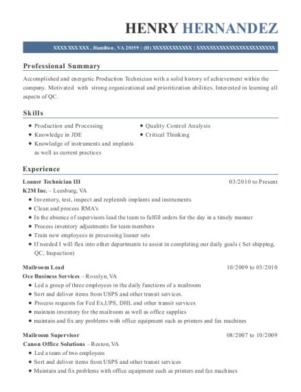 Best Mailroom Supervisor Resumes ResumeHelp - Mailroom supervisor resume