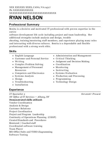 best senior programmer to it specialist 3 total resumes resumehelp