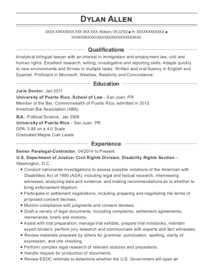 Best Immigration Law Clerk Resumes | ResumeHelp