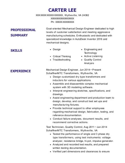 Luxury Virginia Engineering Resume Frieze - Best Resume Examples by ...