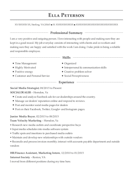 best social media strategist resumes resumehelp