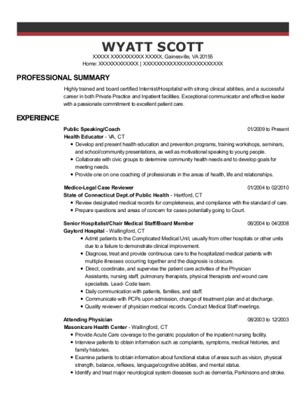 Best Primary Care Physician Resumes | ResumeHelp