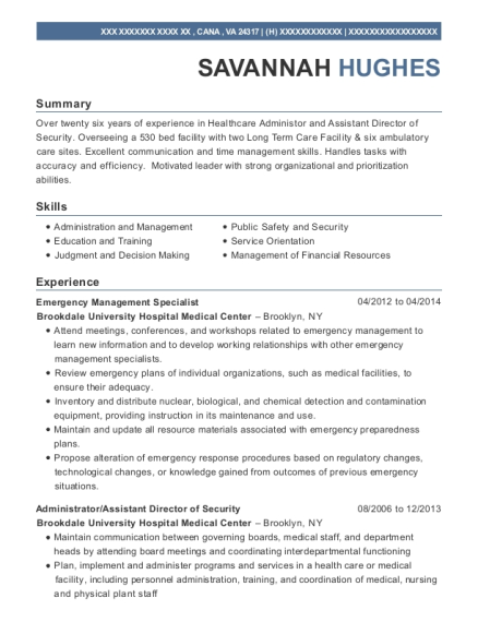 Lovely Emergency Management Specialist , Area Coordinator. Customize Resume · View  Resume